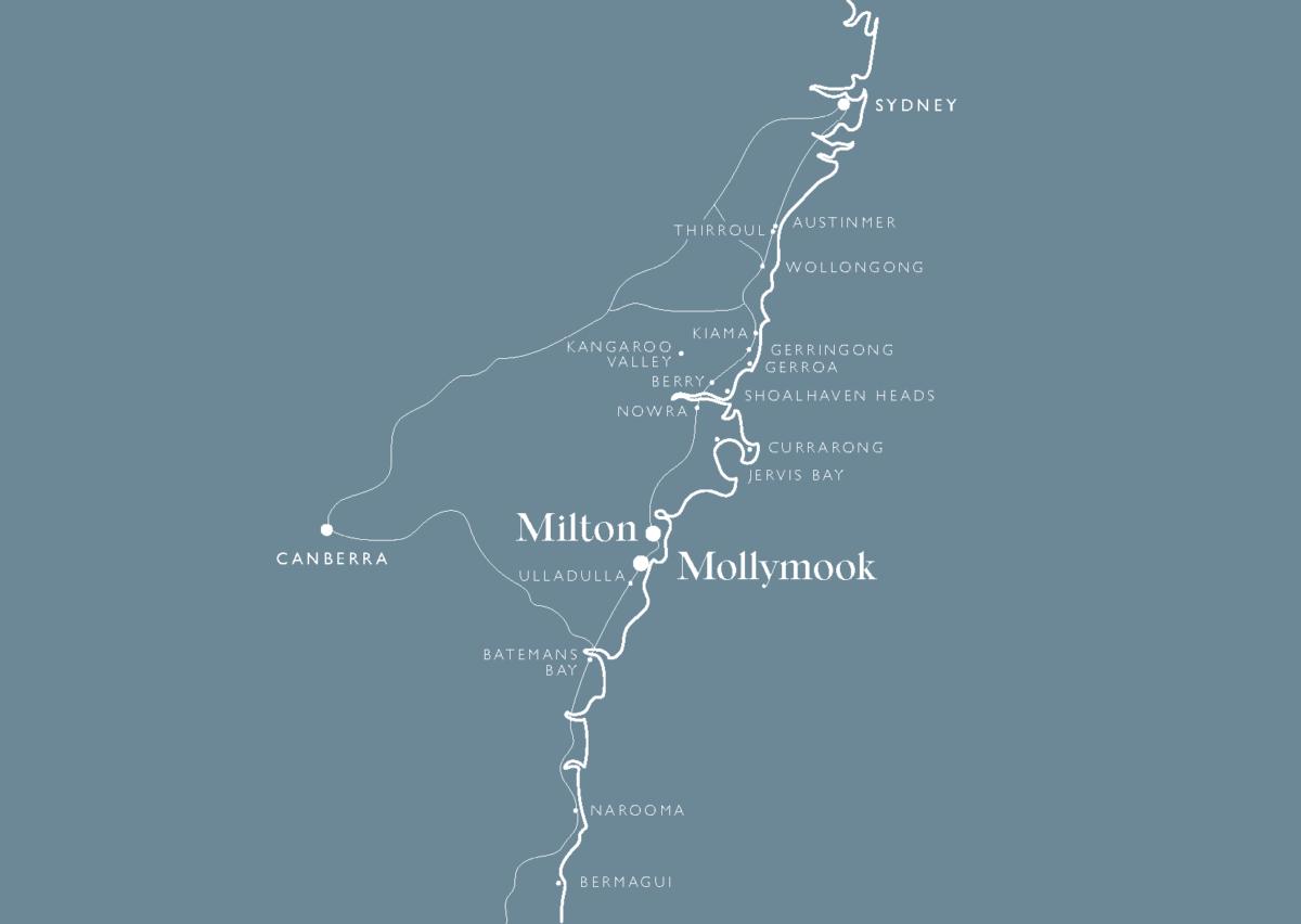 Map of Milton NSW